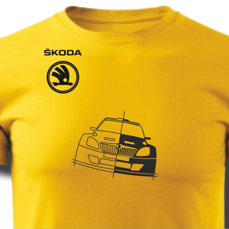 Tričko pánské s potiskem WRC ŠKODA FABIA