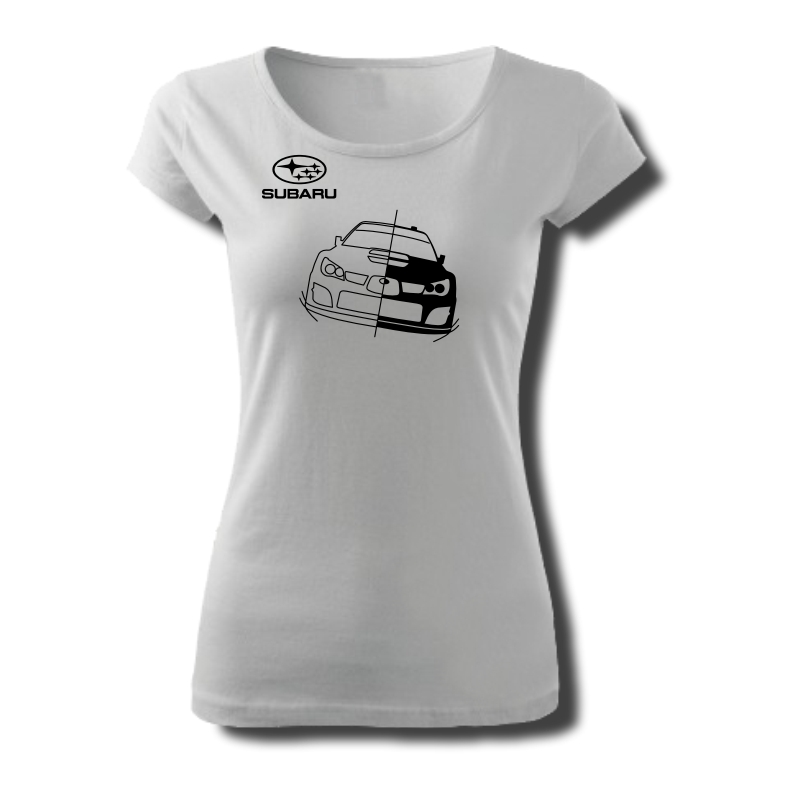 Tričko dámské s potiskem WRC SUBARU