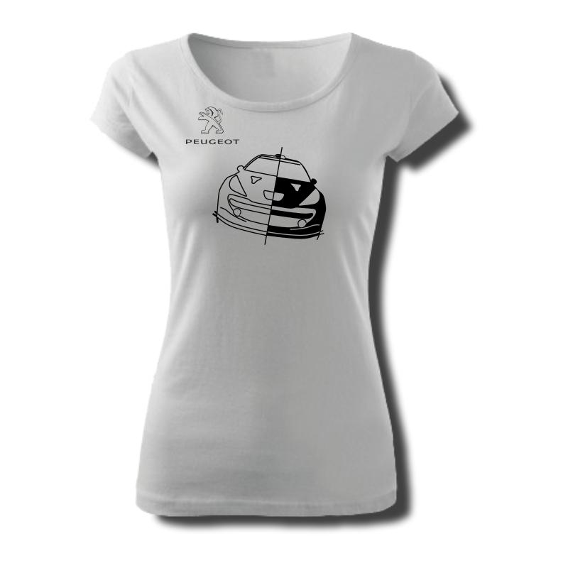 Tričko dámské s potiskem WRC PEUGEOT