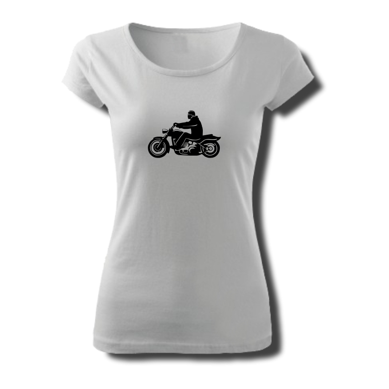 Tričko dámské s potiskem Motocykl