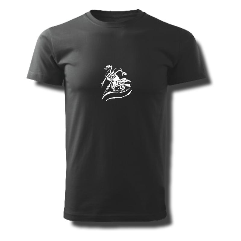 Tričko pánské s potiskem Motocykl