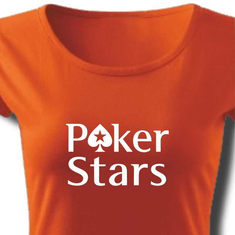 Tričko dámské s potiskem POKER STARS