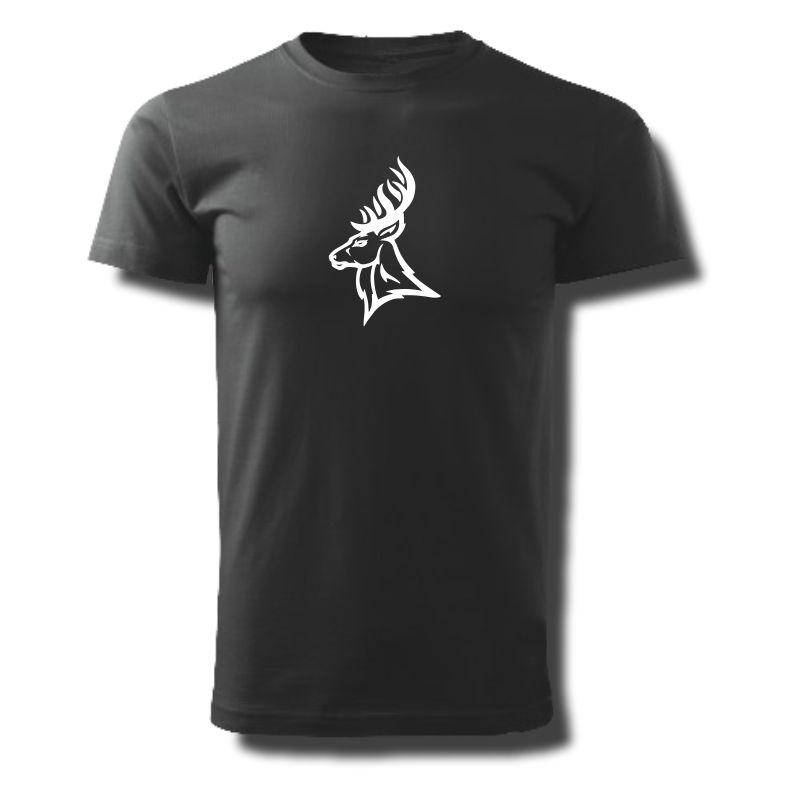 Tričko pánské s potiskem MYSLIVECKÉ - JELEN