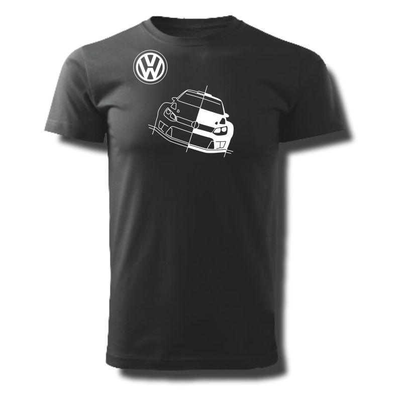 Tričko pánské s potiskem WRC VW POLO
