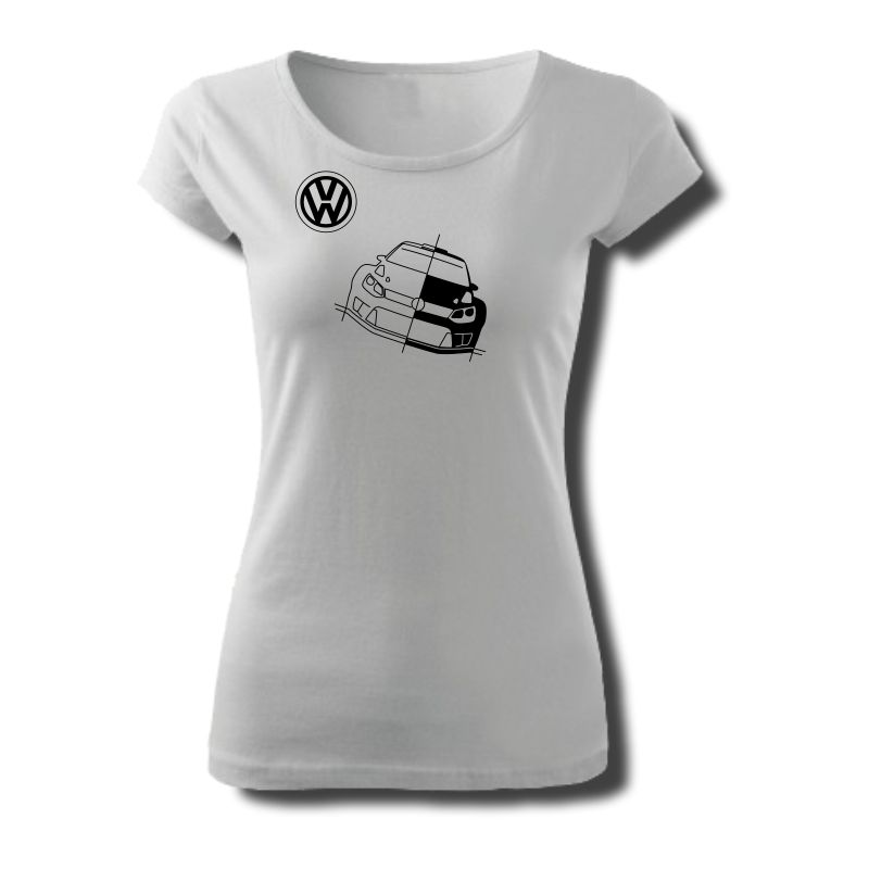 Tričko dámské s potiskem WRC VW POLO