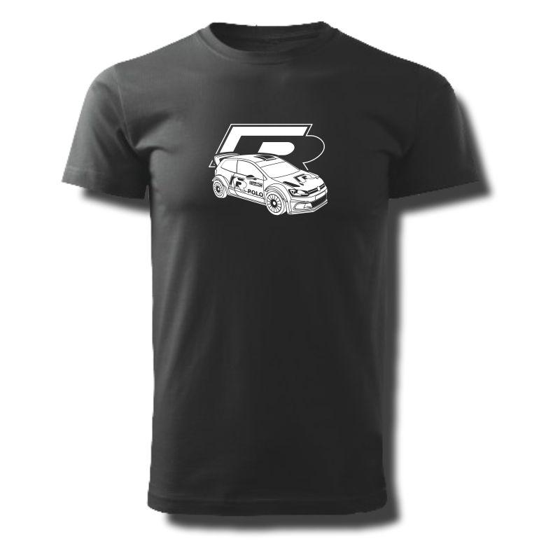 Tričko pánské s potiskem WRC VW POLO R
