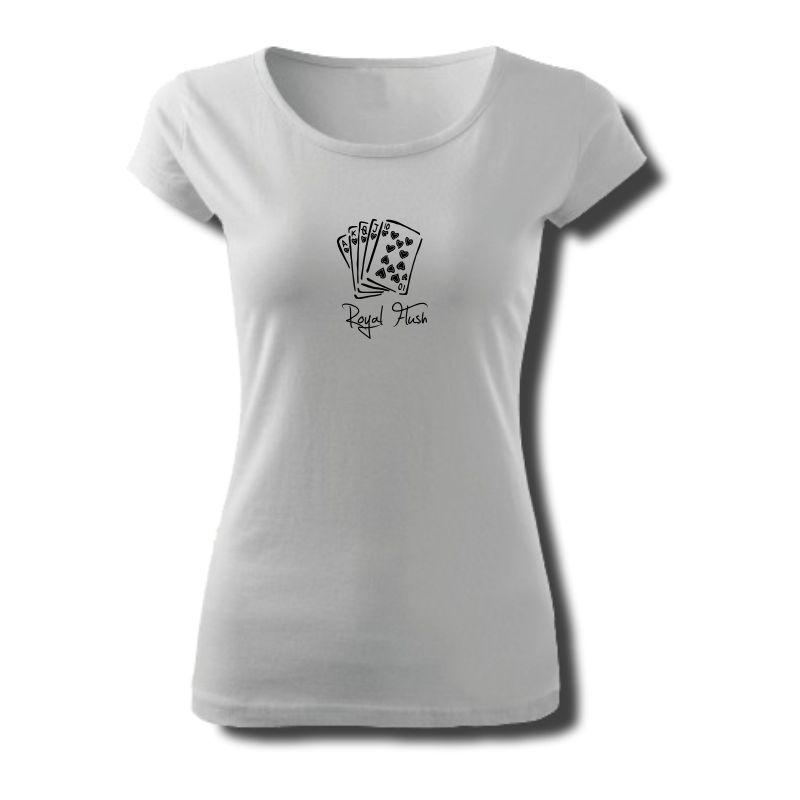 Tričko dámské s potiskem POKER Royal Flush