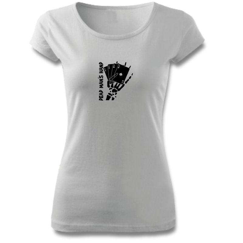 Tričko dámské s potiskem POKER DEAD MAN´S HAND