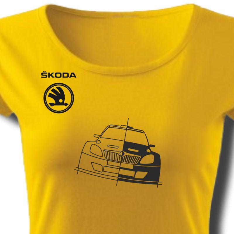 Tričko dámské s potiskem WRC ŠKODA FABIA